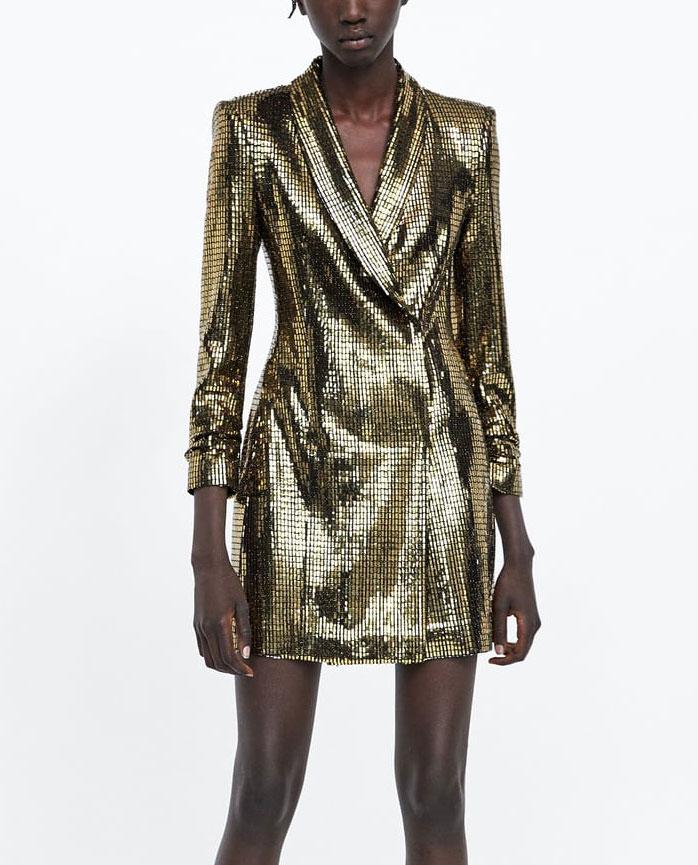 Zara Gold mini dress     $119