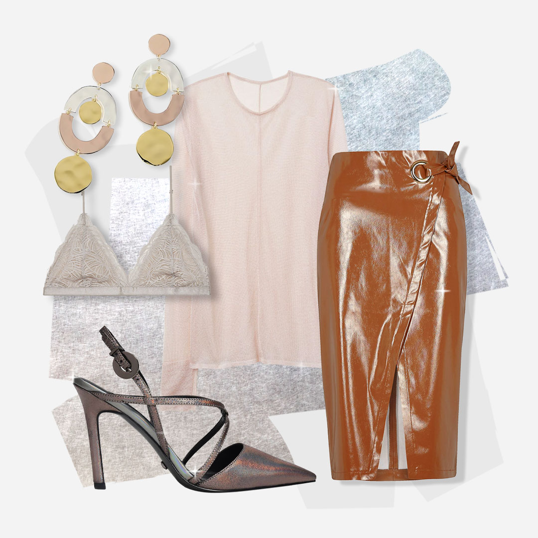 This is the Look of the Future - This trend isn't only about sequins. Neutral tones in diverse textures let you Flirt the futuristic trend without looking over-the-top.