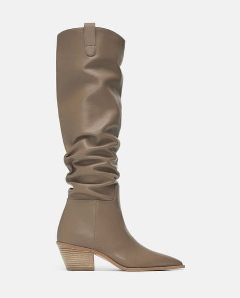 Zara Leather Boots   $79.99