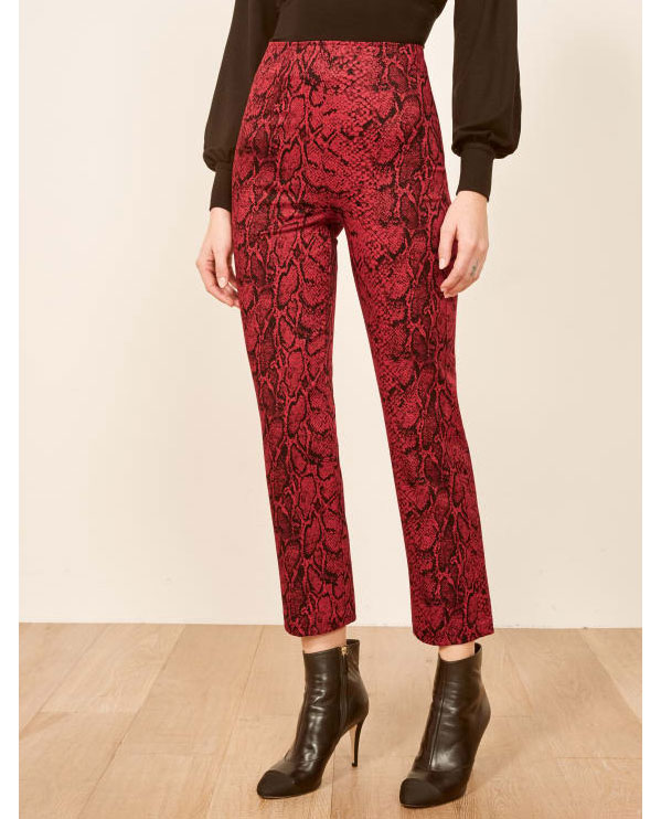 The Reformation Print Pants     $158