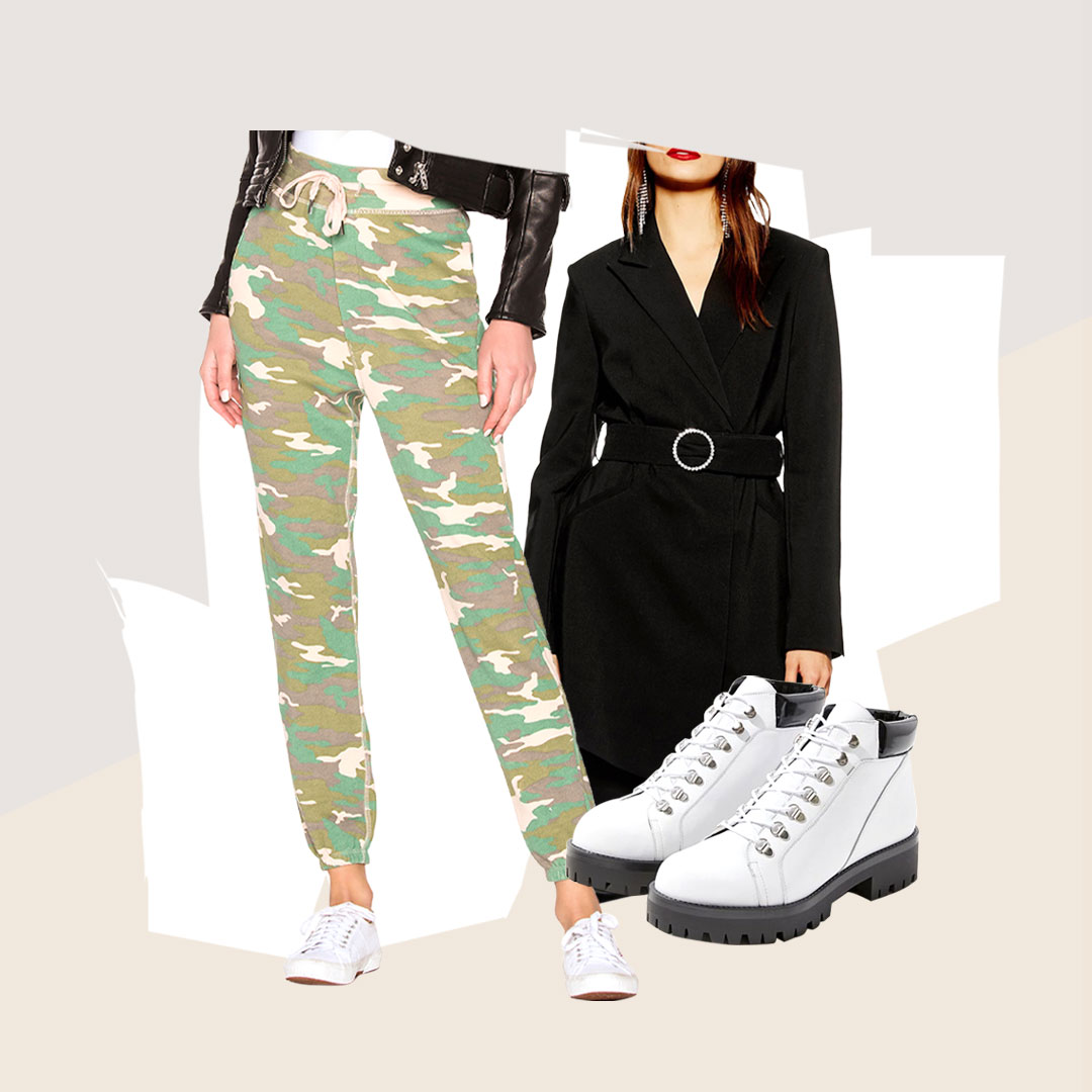 The Anything-But-Cowboy Trends to Buy - When western doesn't fit the vibe...there's plenty of fresh, new purchases to be made. Camo edge instead of western fringe, or structured sleek vs. rugged chic? Perhaps pink and cozy over buttoned-up cowboy. Ready for a hike, instead of giddy up, cowboy!
