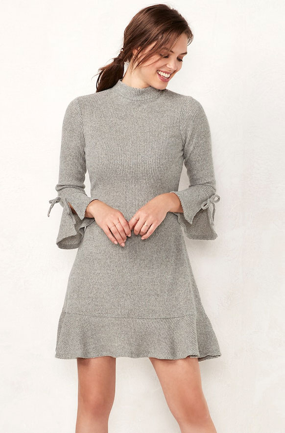 LC Ribbed Dress     $34.99