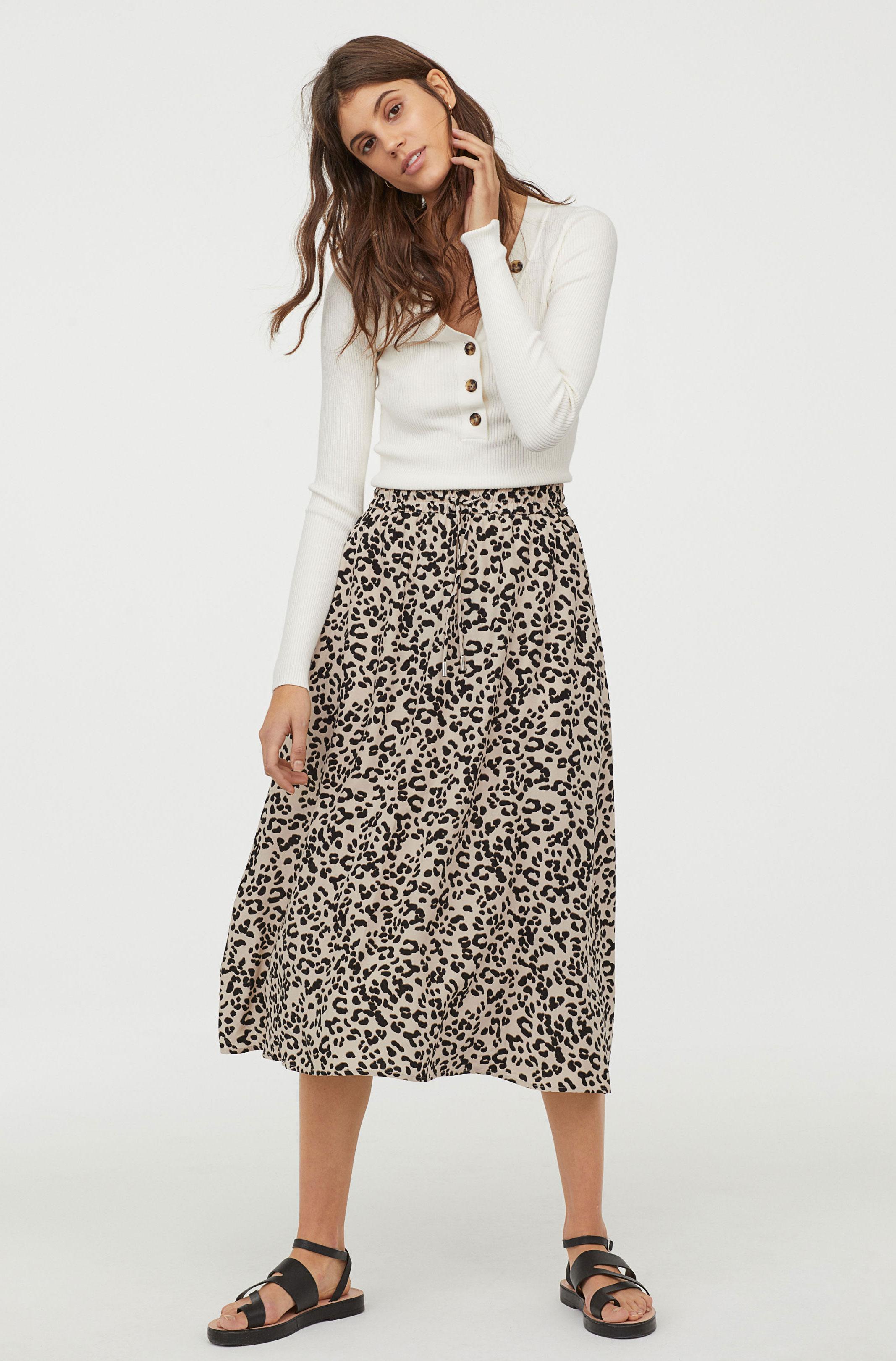 H&M Print Skirt     $29.99