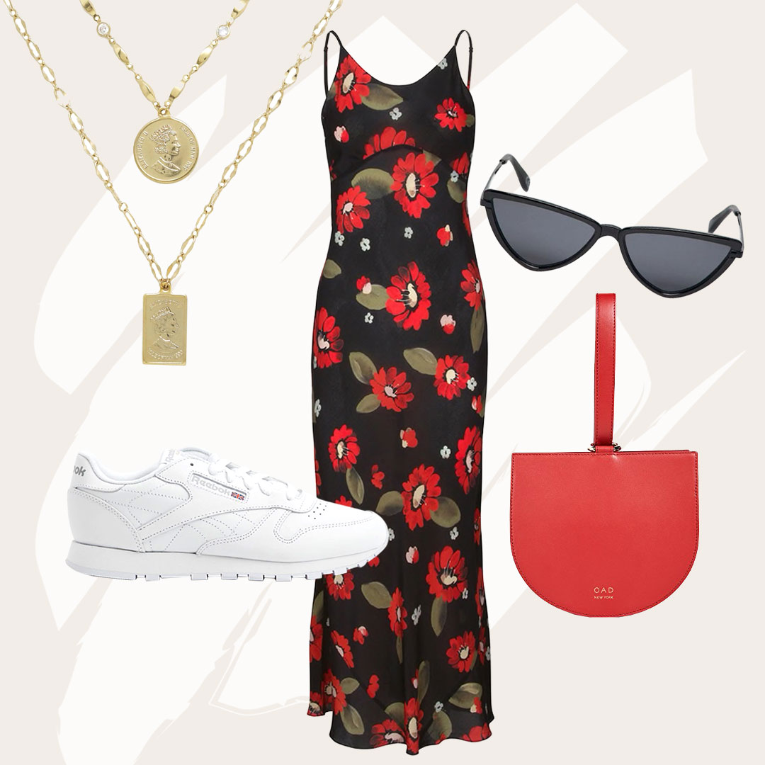 'Realise' Your Slip Skirt Destiny with this on Par Look - Realisation Par is the face of slip skirts and dresses this season. Become part of the take over in this updated printed slip dress look.