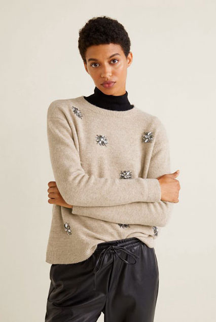 Mango Sweater with Crystal Detail  $79.99