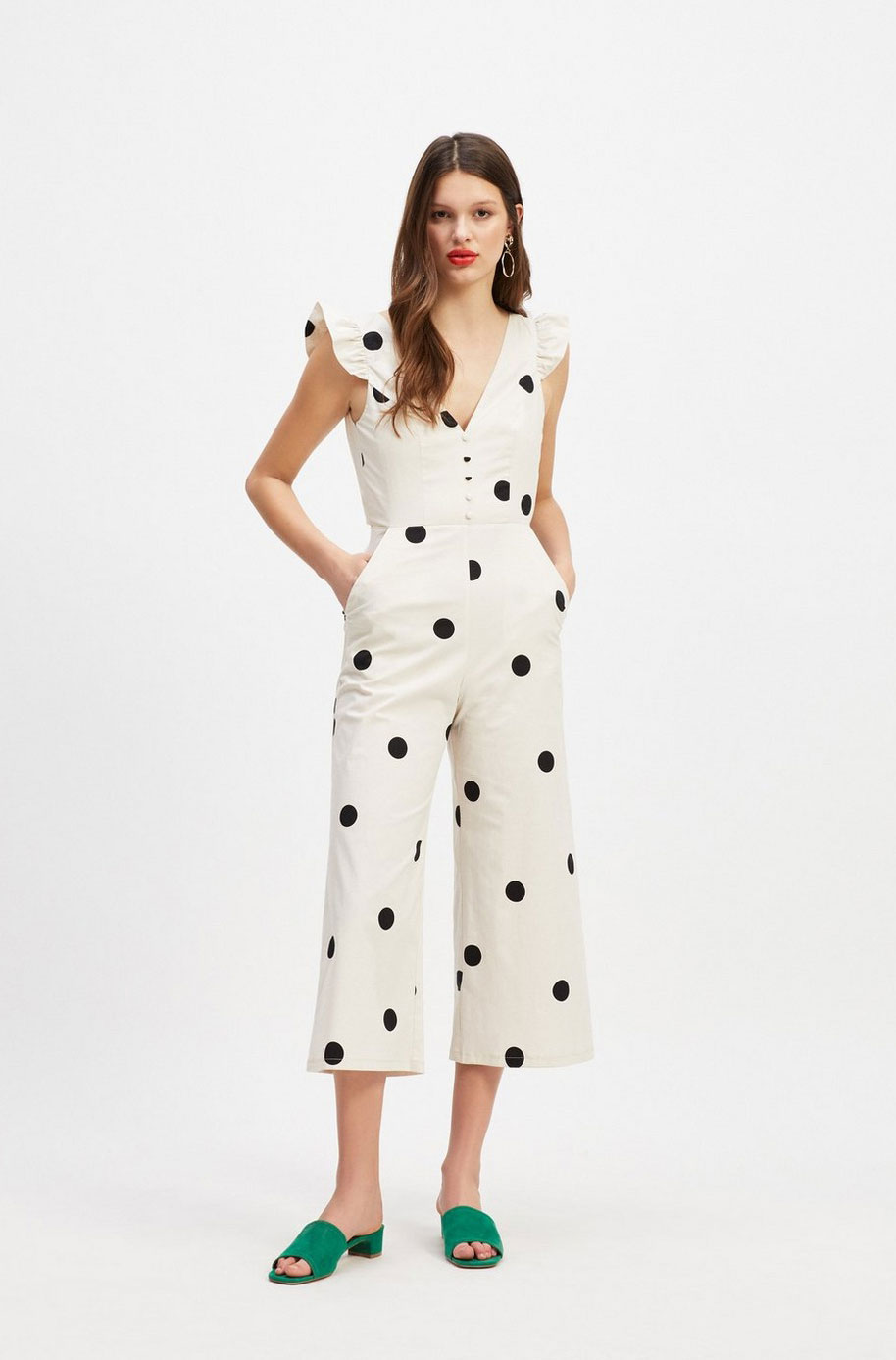 Miss Selfridge Polka Dot Jumper    $106