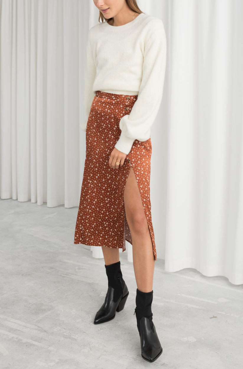 & Other Stories Polka Dot Skirt  $69