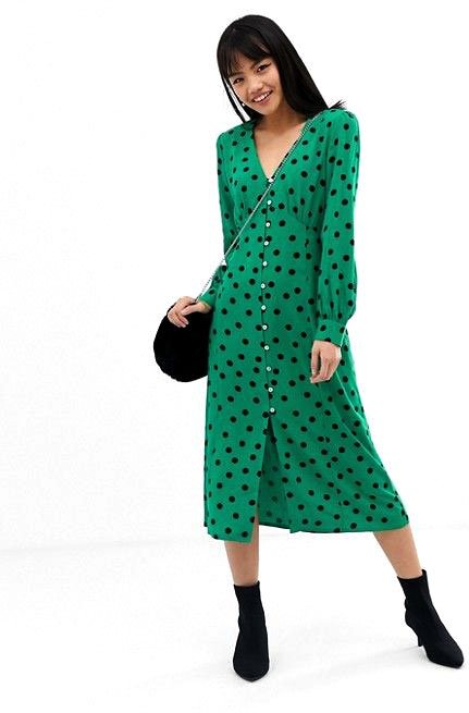 Miss Selfridge Polka Dot Dress  $72