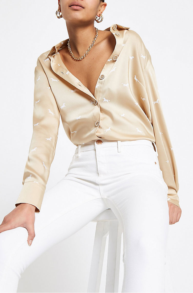 River Island Neutral Blouse  $70