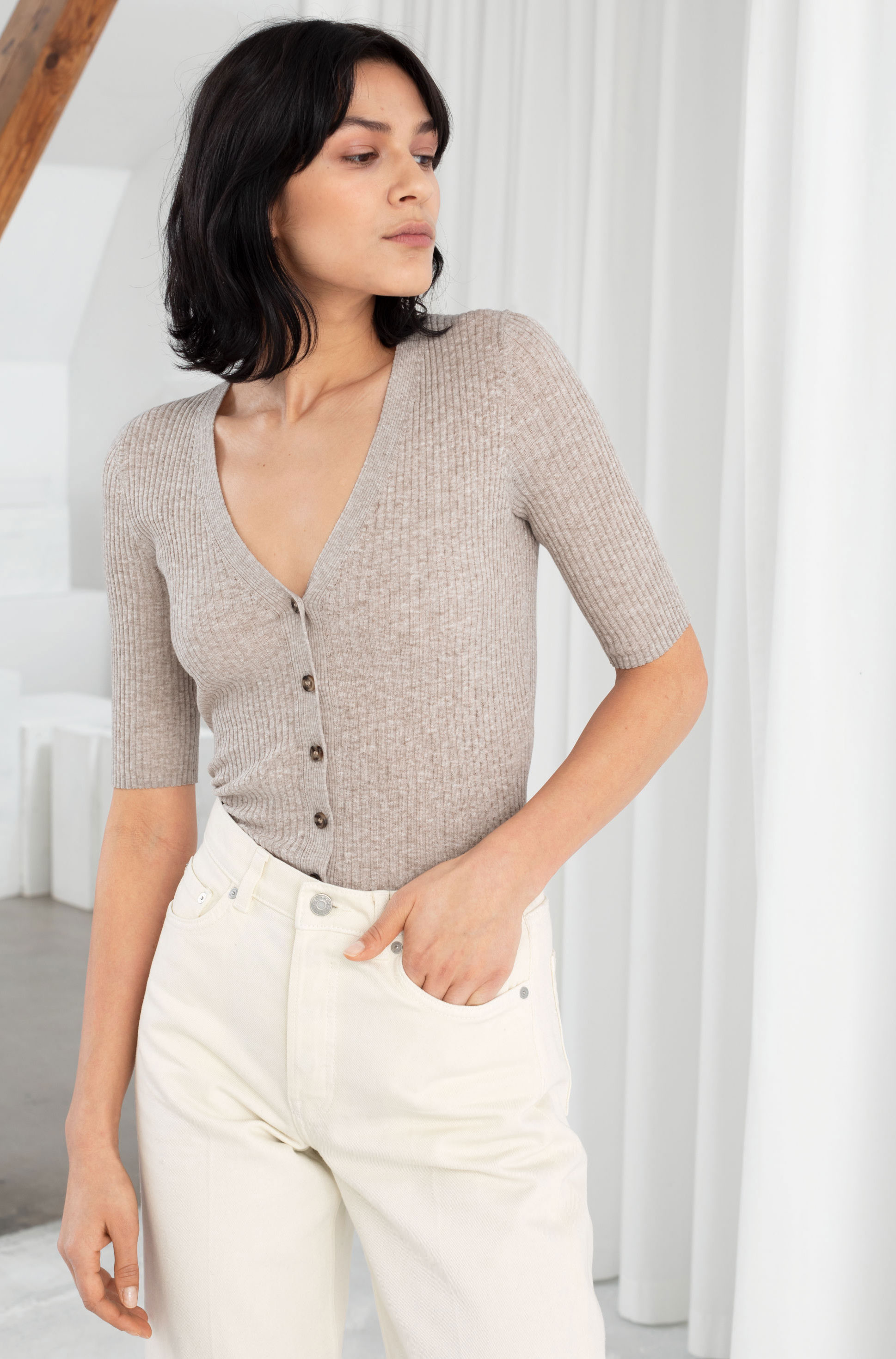 & Other Stories Neutral Cardigan  $69