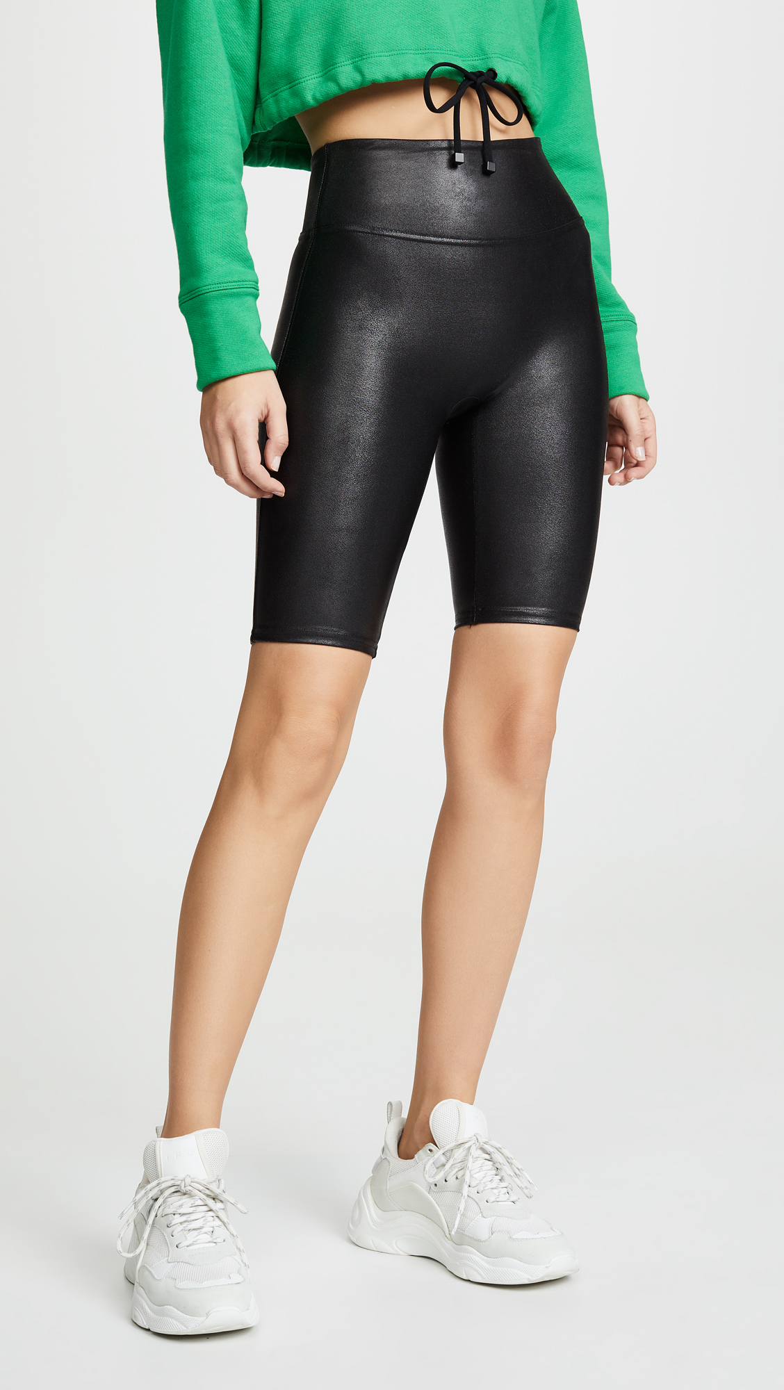 Spanx Faux Leather Bike Shorts  $68