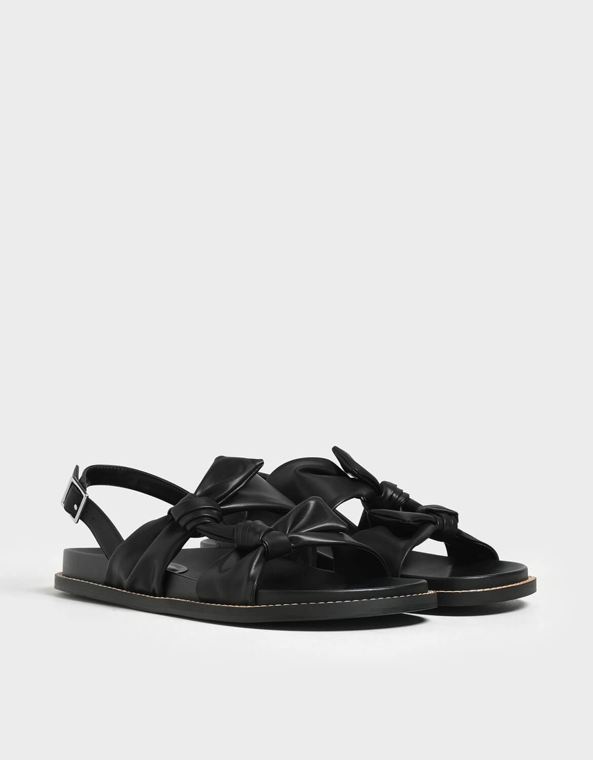 Charles & Keith Leather look sandals    $49