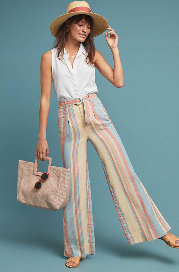 Anthropologie Striped Pants     $130