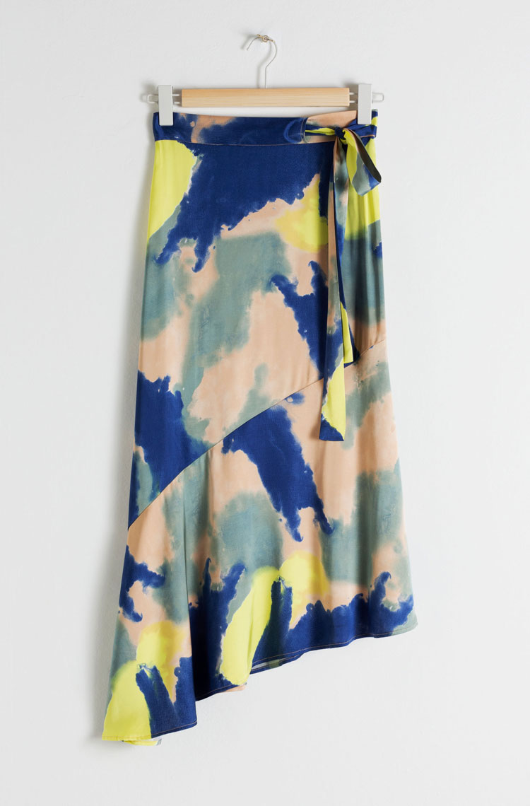 & Other Stories Tie-Dye Skirt     $79