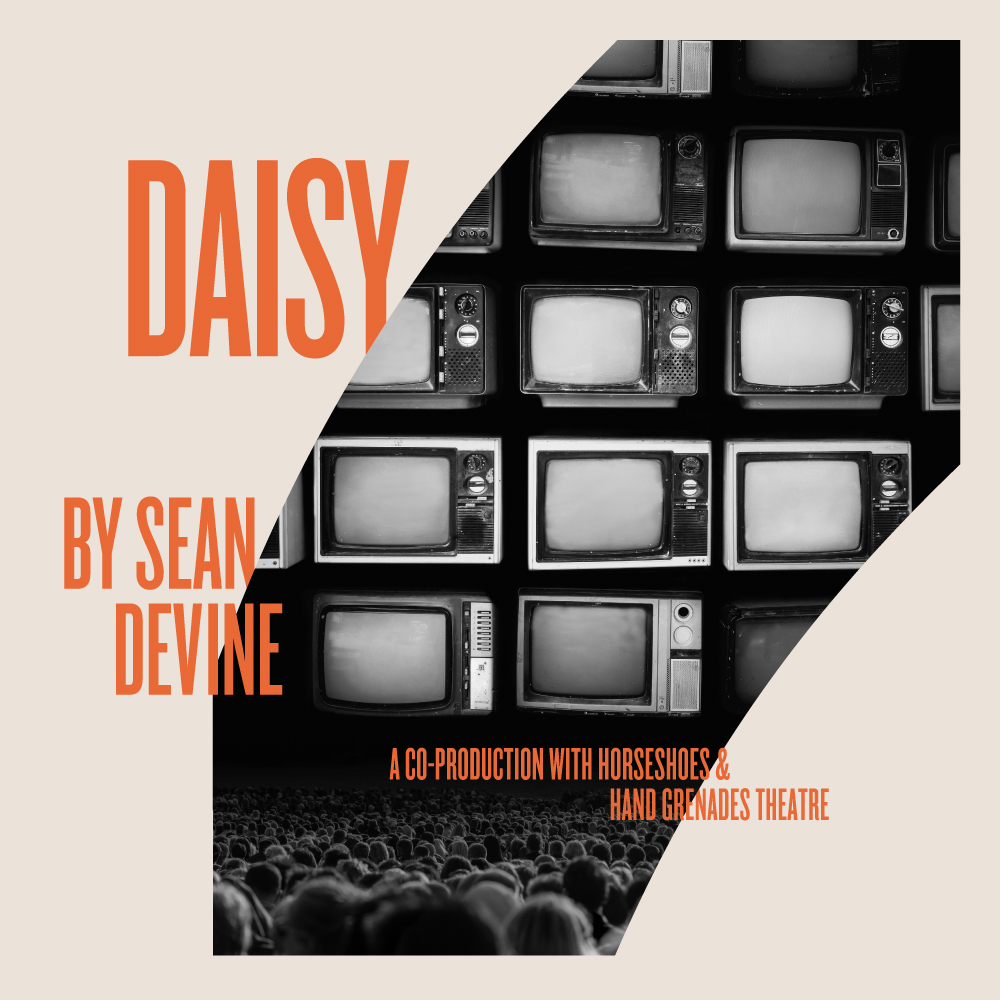 """Daisy - by Sean DevineMarch 10–29, 2020A Canadian premiere based on true events, Daisy tells the story of the Madison Avenue advertising team that set out to create the first modern political attack ad for the 1964 presidential campaign of Lyndon Johnson. Infamously known as the """"Daisy ad,"""" it ran once and was immediately banned, but its impact is still felt. War was the objective. Peace was the bait. Everyone got duped.Learn More GET TICKETS"""