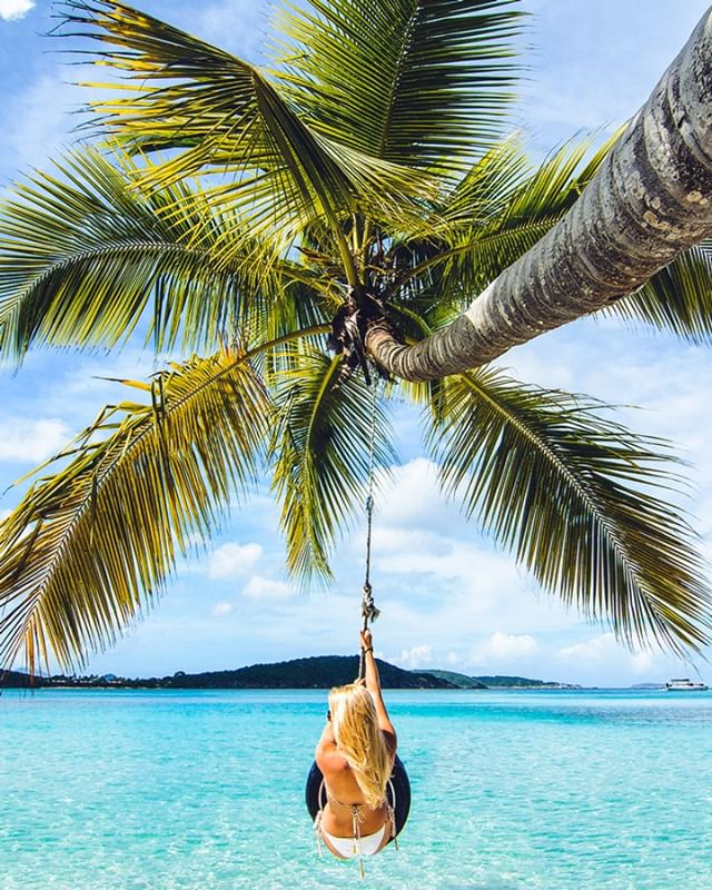 Swinging into the weekend without a care in the world. 🌴  Looking to #FindParadise? DM us and let us show you the way.😎 • • • #Ceremony #FindParadise #travelmore #traveloften  #gradtrip2020 #adventureseeker #doyoutravel #goexplore #seekmoments  #travel