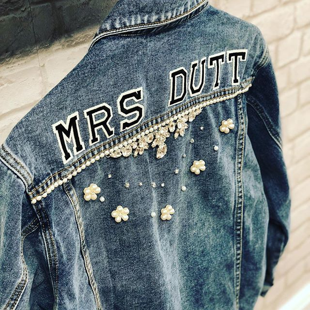 Another jacket ready for delivery ❤️ order yours online now! . . . #customised #personalised #oneofakind #denim #denimjacket #lovedenim #misstomrs #bridestyle #bridalaccessories #bridetobe #misstomrs #engaged #modernbride #coolbride #instabride #bridalmusings #ootd #instastyle #orderonline #shopindependent #wifey #wifeyforlifey #bridesmaid #hendo #bridetribe #squadgoals #supportsmallbusiness #wifeymaterial #rockmywedding #beespokebride