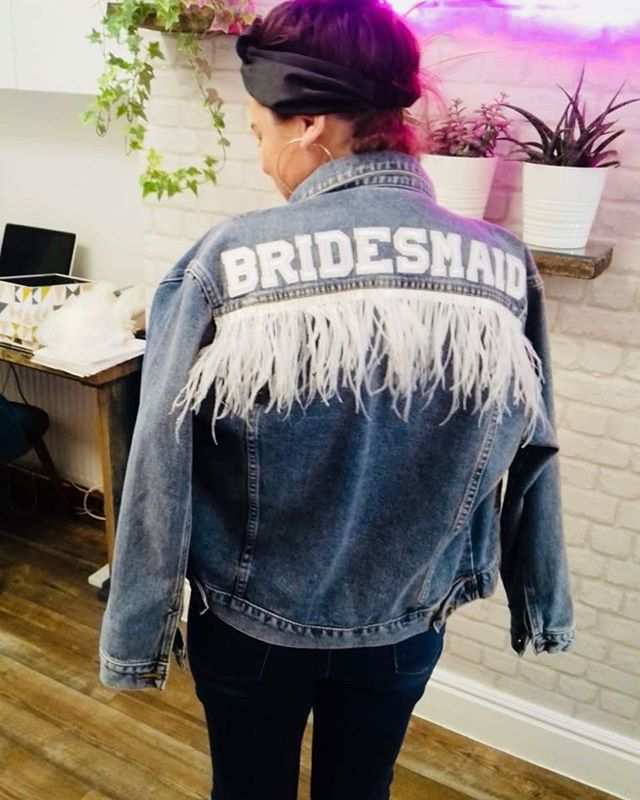 @emmadenton_makeup been the perfect model in our Bridesmaid jacket! ❤️ order online now £94.95 . . . #customised #personalised #oneofakind #denim #denimjacket #lovedenim #misstomrs #bridestyle #bridalaccessories #bridetobe #misstomrs #engaged #modernbride #coolbride #instabride #bridalmusings #ootd #instastyle #orderonline #shopindependent #wifey #wifeyforlifey #bridesmaid #hendo #bridetribe #squadgoals #supportsmallbusiness #wifeymaterial #rockmywedding #beespokebride