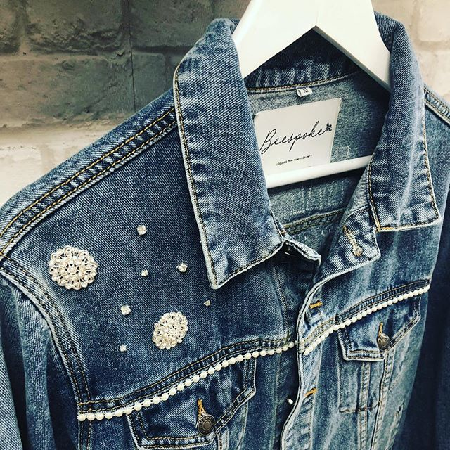 We can add embellishment anywhere you like! Just drop us a DM if you are after something a bit different! . . . #customised #personalised #oneofakind #denim #denimjacket #lovedenim #misstomrs #bridestyle #bridalaccessories #bridetobe #misstomrs #engaged #modernbride #coolbride #instabride #bridalmusings #ootd #instastyle #orderonline #shopindependent #wifey #wifeyforlifey #bridesmaid #hendo #bridetribe #squadgoals #supportsmallbusiness #wifeymaterial #rockmywedding #beespokebride