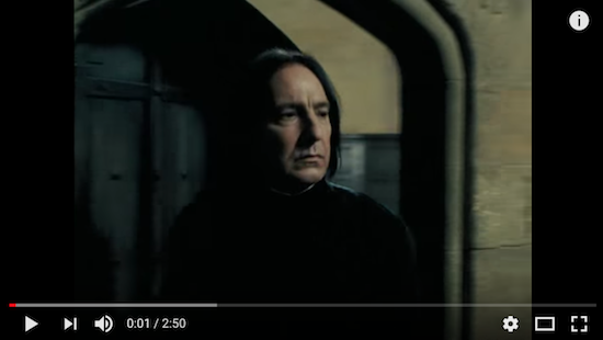 A youtube classic: Severus Snape: I'm Too Sexy Rest well you magnificent man.