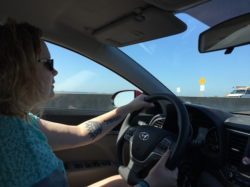 Driving to Clearwater on the Courtney Campbell Causeway