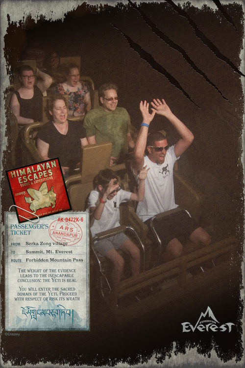 Expedition Everest coaster ride photo!