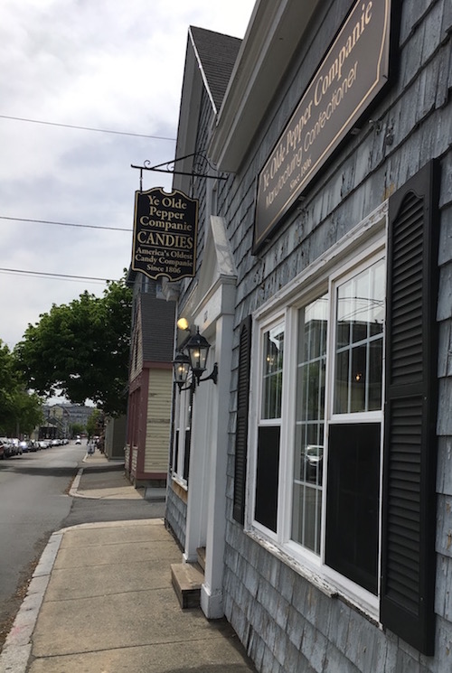 Ye Old Pepper Companie in Salem - The oldest candy shop in America (1806). Their blueberry salt water taffy is amazing!