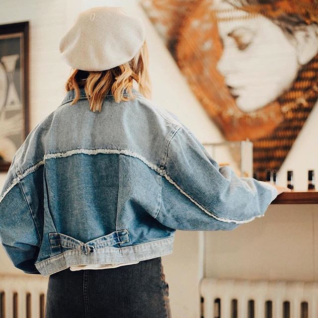 Like your jean jacket, only better. 💙 Shop the Bedford Cropped Jacket at @btg_au! #jeanjacket #denim #bluejeanbaby #outfitinspo #ootd #jacket