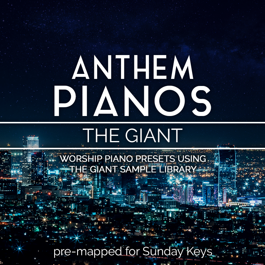 Anthem Pianos: Piano in 162- Worship Piano Patches for MainStage 3 —  MainStage Patches and Templates from Sunday Sounds