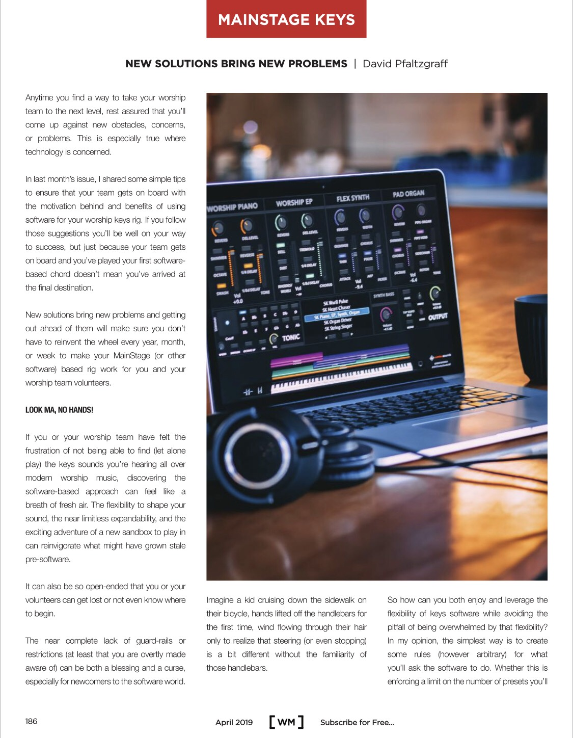 New Solutions Bring New Problems: Worship Musician Mag April
