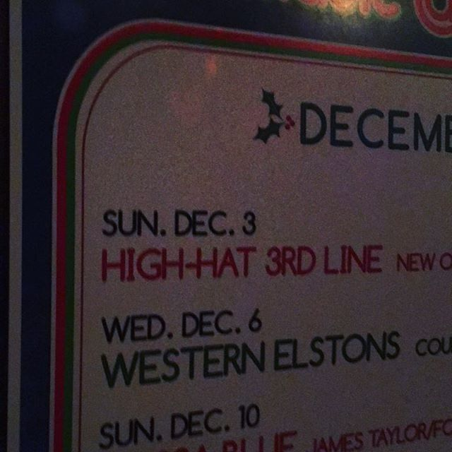 The High Hat 3rd Line is a bunch of creeps. The High Hat Second Line is a better kind of weird. #nolainchicago #simonstavern