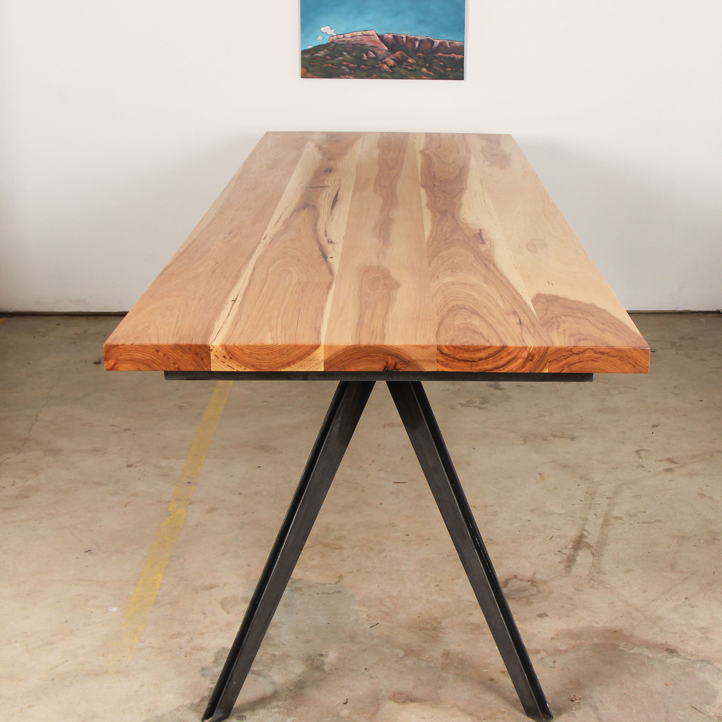 Arrow Pecan Dining Table by Mockingbird Made
