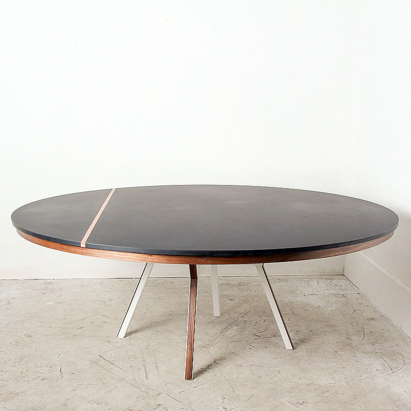 Phenolic & Copper Round Dining by Mockingbird Made