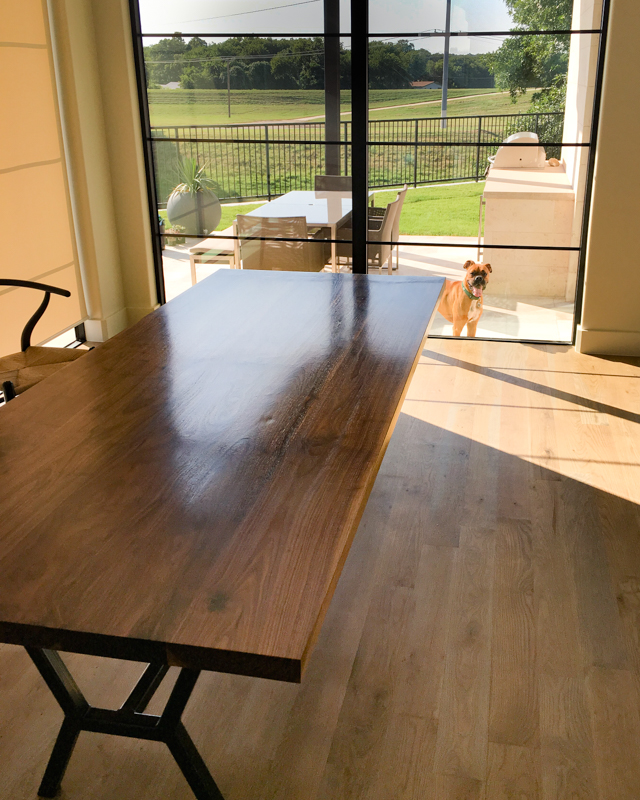 Jax Walnut Dining Table by Mockingbird Made