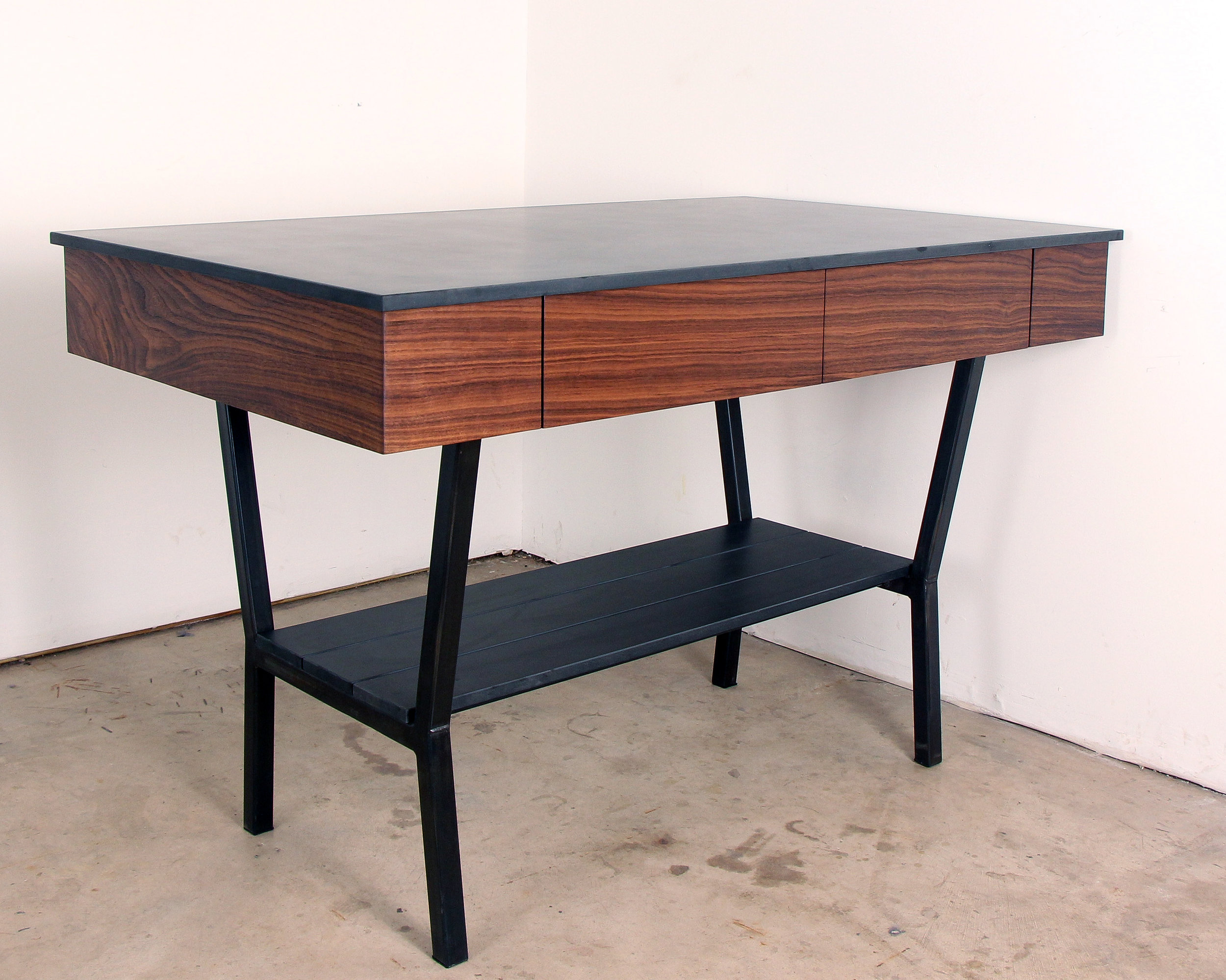 Phenolic Walnut Steel Kitchen Island