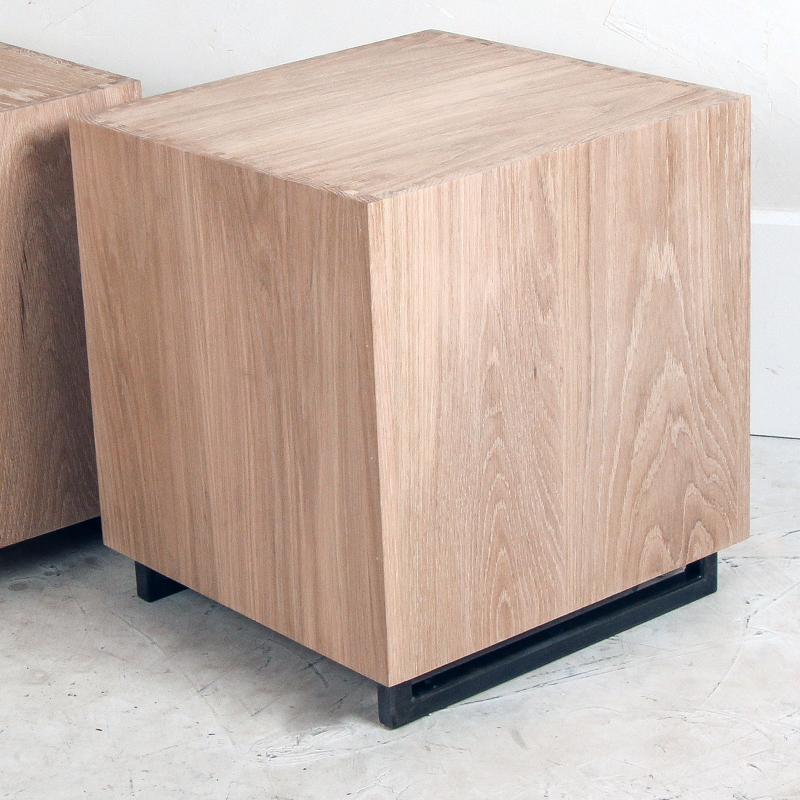 Oak Cube Side Table