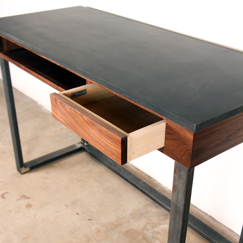 Phenolic Walnut Steel Desk