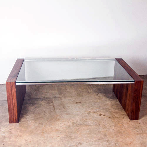 Walnut Glass Coffee Table