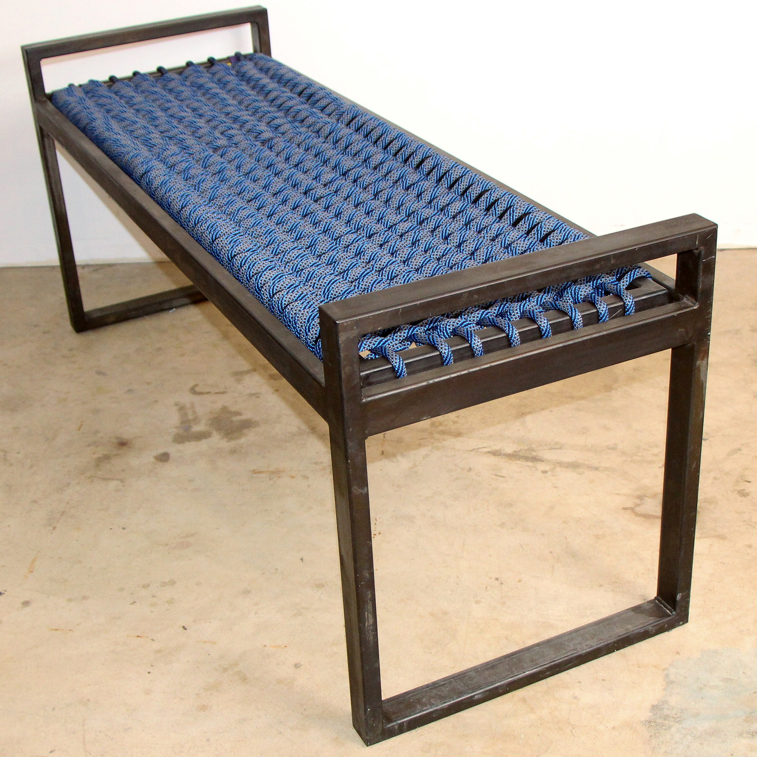 Climbing Rope Steel Bench