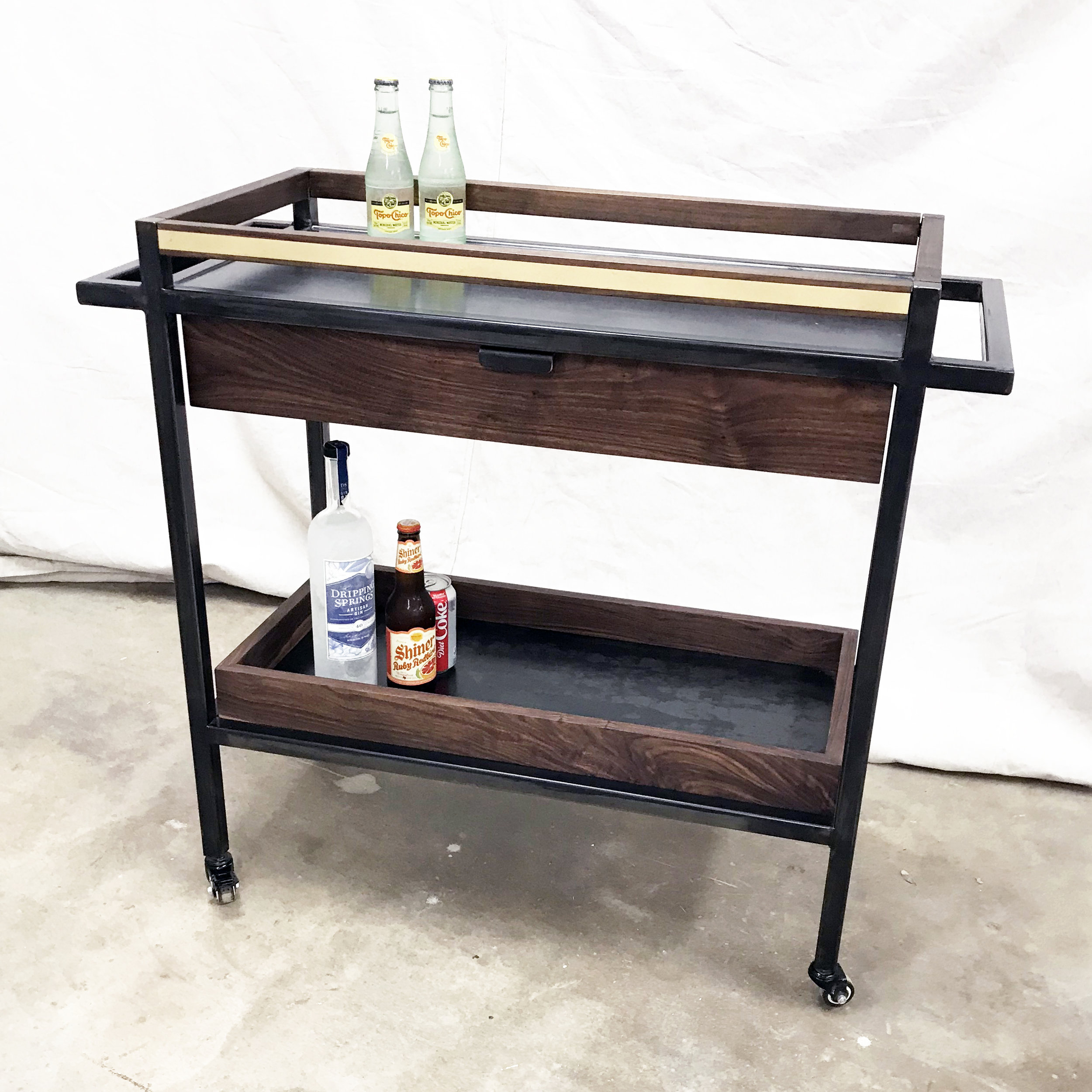Bar Cart Brass/Steel
