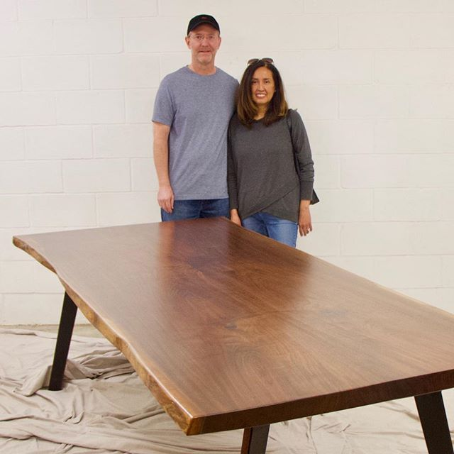 Live edge walnut California bound. Thank you Veronica & James!