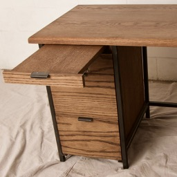 White Oak Desk with pull out register