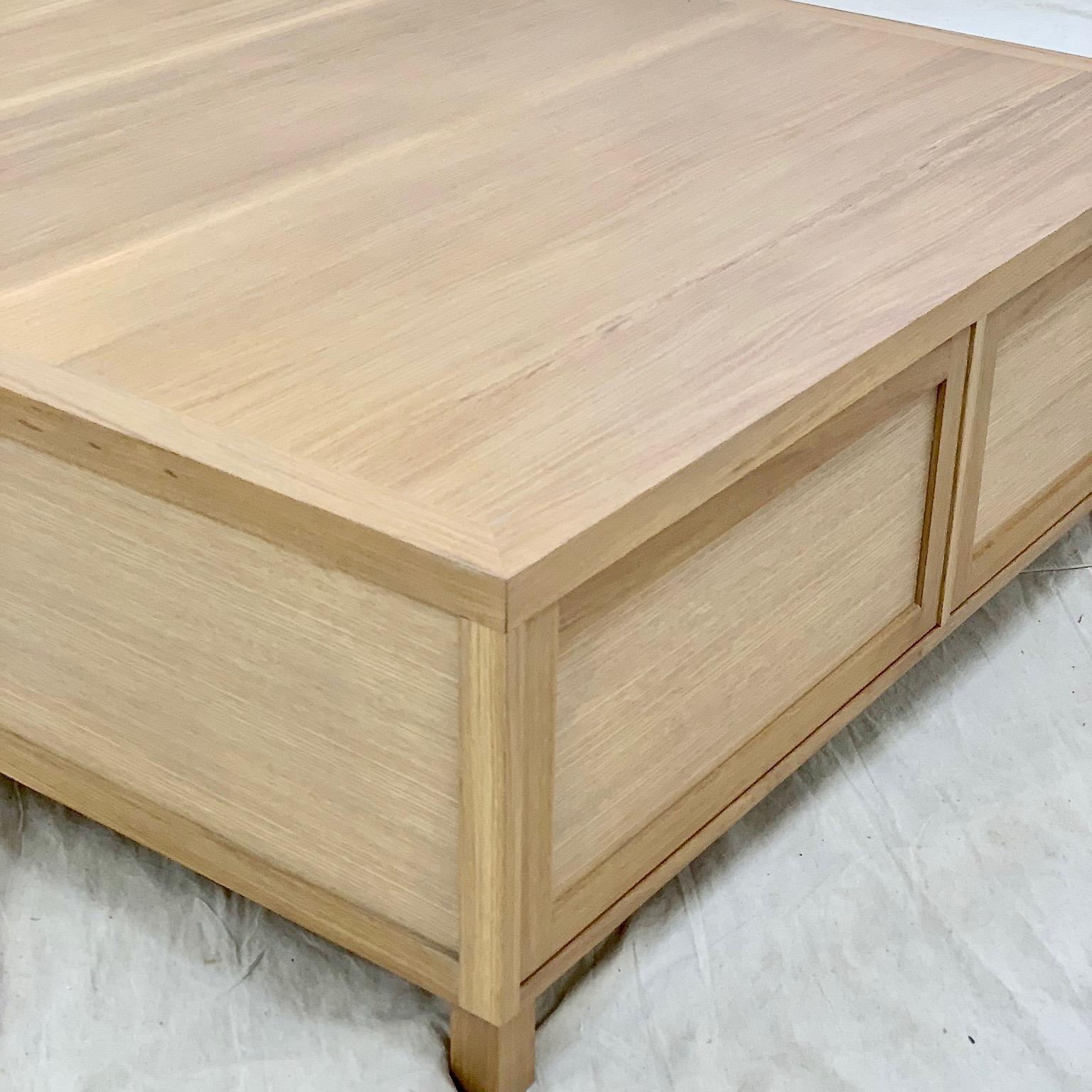 White Oak Coffee Table 2 Drawer