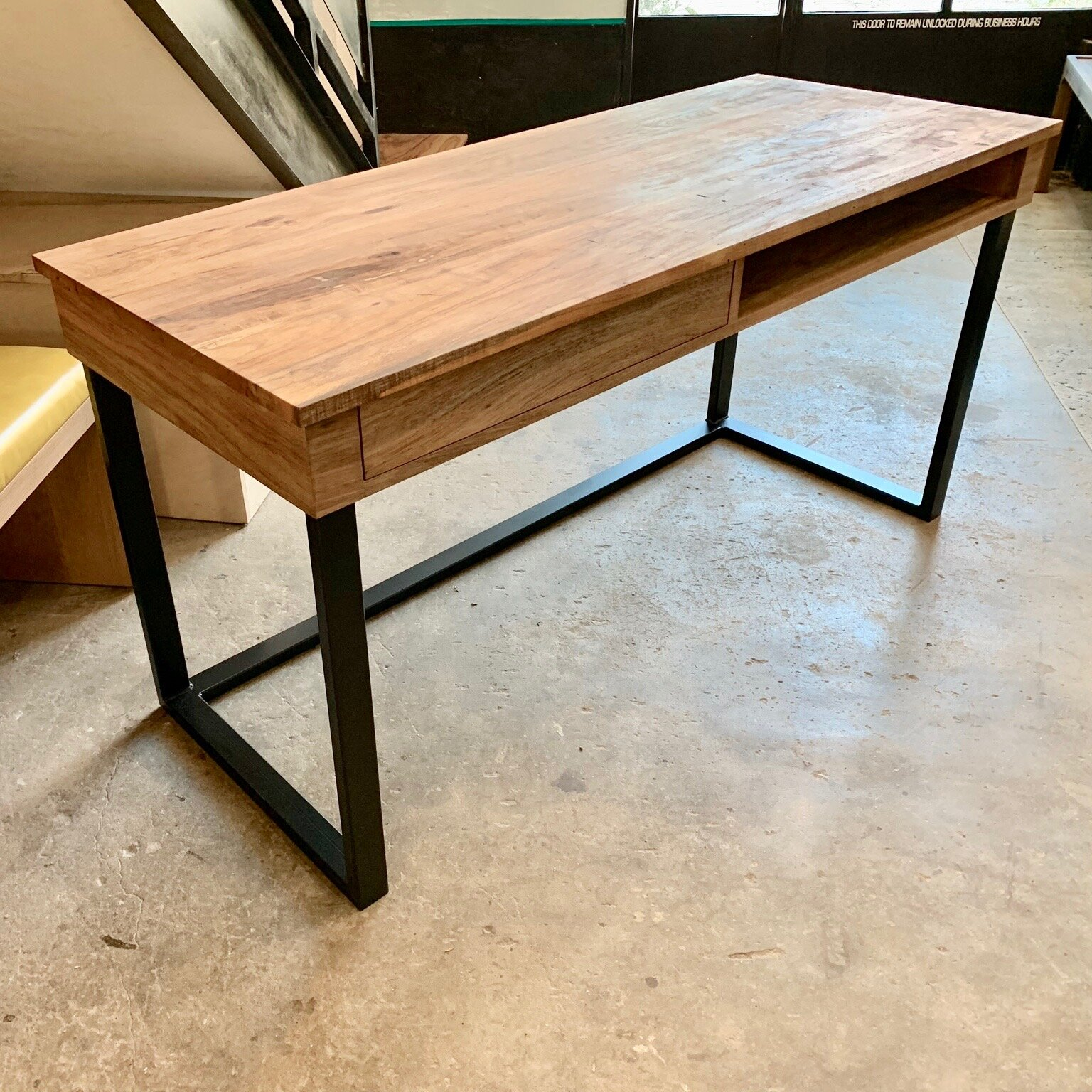 Pecan Desk with drawer/cubby