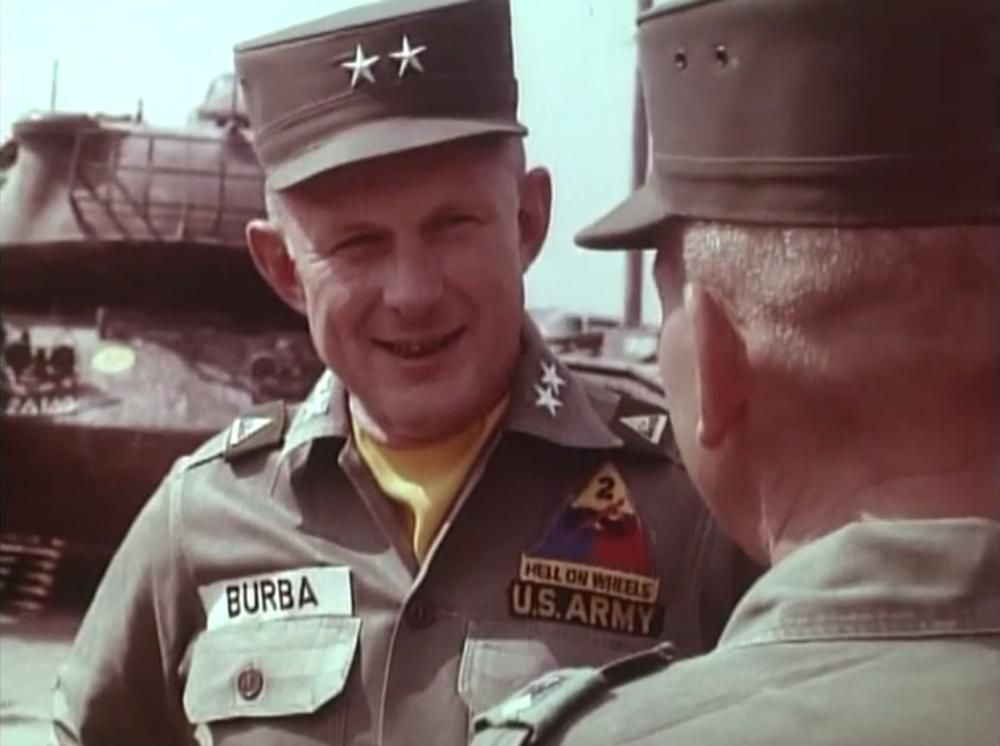 Major General Edwin H. Burba, division commander during Exercise Big Lift (Oct 1963). It was the largest movement of troops by air to that date.