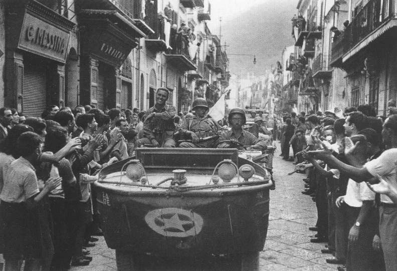 17th Engineers enter Palermo, Sicily.