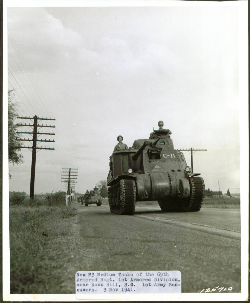 1st Armored Division tanks on Rock Hill Road.