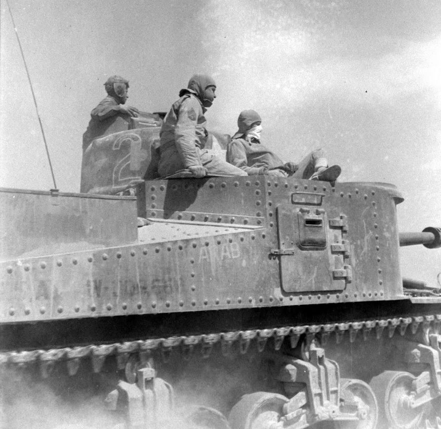 ''ARAB'' 13th Armored Regiment, 1st Armored Division. El Guettar, Tunisia. Apr 1943. Photo 2 of 2.