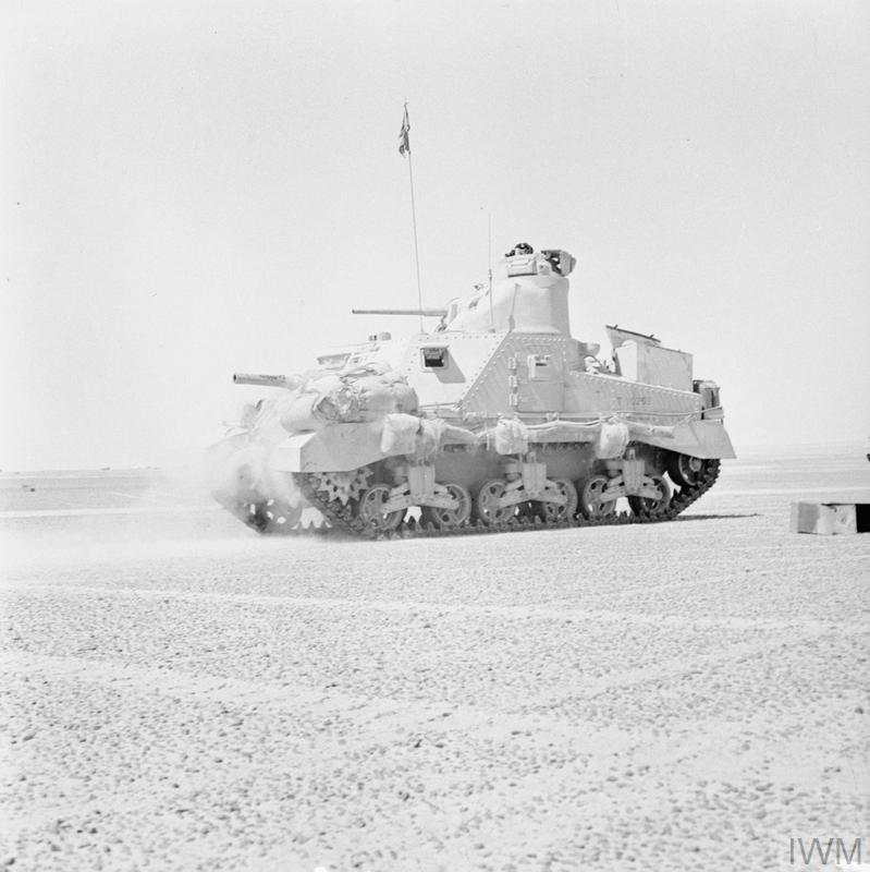 A Lee tank in the Western Desert, 2 Oct 1942.IWM photo E 17615