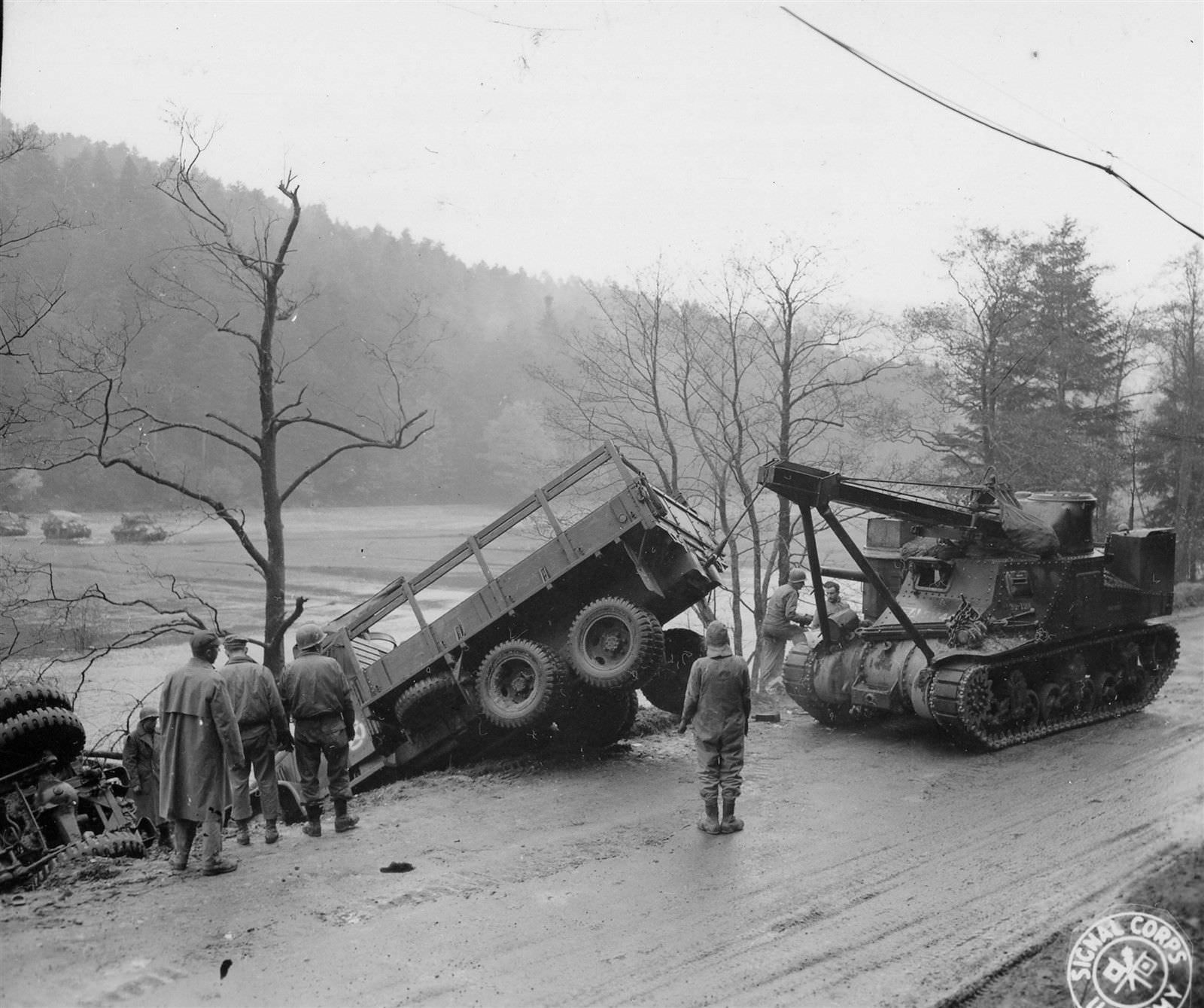 M31 of the 7th Army at Les Rouges-Eaux, France. 8 Nov 1944.